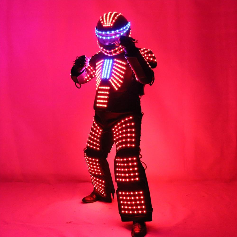 RGB LED kostīmu LED apģērbu gaismas kostīmi LED robotam ir - Svētku piederumi