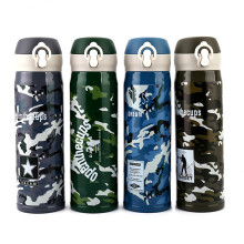 500ML Camouflage Thermose Vacuum Flasks Stainless Steel 304 Insulated Thermos Cup Coffee Mug Outdoor Travel Drink Bottle By Bike
