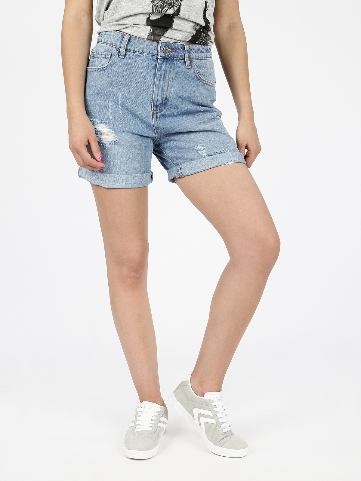 Bermuda Mom Jeans High Waist