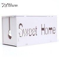 Kiwarm hogar DIY cable almacenamiento Alambres gestión socket almacenamiento cajas contenedores para Decoración para el hogar regalos