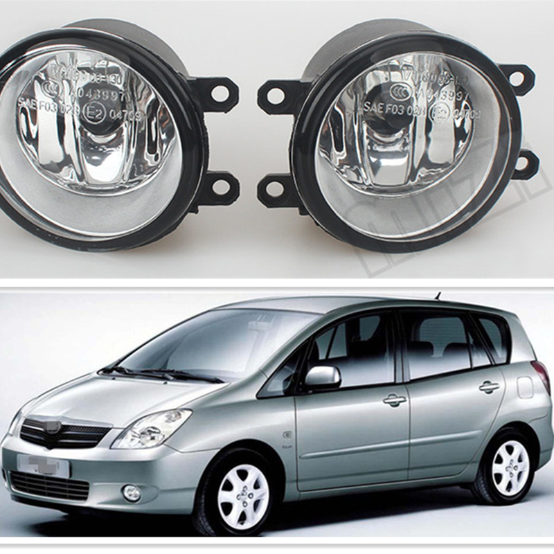For Car Styling Fog Lights For TOYOTA COROLLA Sedan E12J E12T 2006-2013 Fog Lamps ( esquerda + direita ) Halogen 1SET for car styling front bumper fog lights para toyota iq kgj1 ngj1 2012 2013 fog lamps esquerda direita halogen 1set