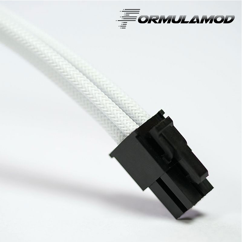 FormulaMod Fm-cpu 4P-A, cpu 4Pin удлинитель питания, материнская плата 18AWG 4Pin многоцветные соответствующие кабели расширения - Цвет лезвия: White