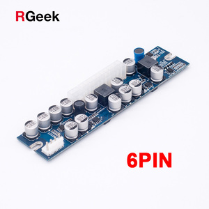 PCI-E 6pin 300W Input DC-ATX 24pin Power Supply Module Swithc Pico PSU Auto Mini ITX High DC-ATX power module ITX For Mining(China)