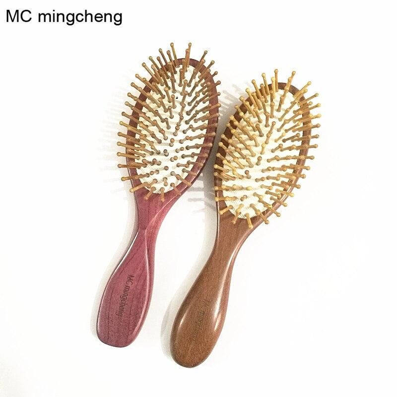 MC Violet Wood Red Sandalwood Comb Detangling Airbag Brush Detangle Healthy Care Spa Massage Antistatic Hair brush Styling Tools