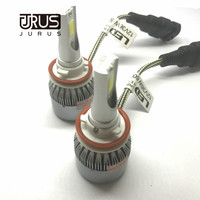 JURUS 2pcs Car Headlights 72W 7600LM Led Light Bulbs H1 H3 H7 9005 9006 H11 H13