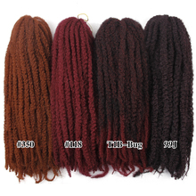 Marley Braids Crochet hair Curly Afro spring twist Soft Red