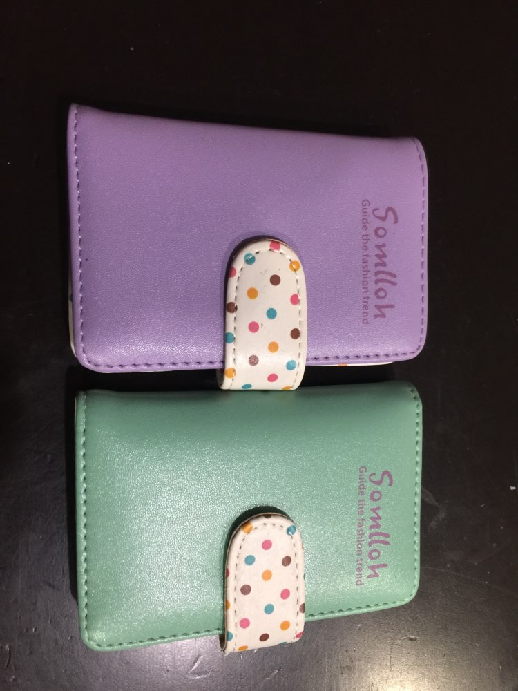 Aelicy High Quality Women Business Card Holder Wallet Bank Credit Card Case ID Holders Women Card Holder porte carte photo review