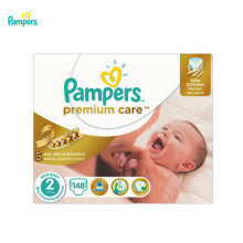 Подгузники PAMPERS Premium Care New Baby 3-6 кг Мега 148(China)