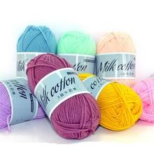 100g DIY Warmth Milk Cotton Baby Wool Yarn Sewing Hand Knitting Knit Blanket Hats Scarves Crochet Thread 2pcs QW045