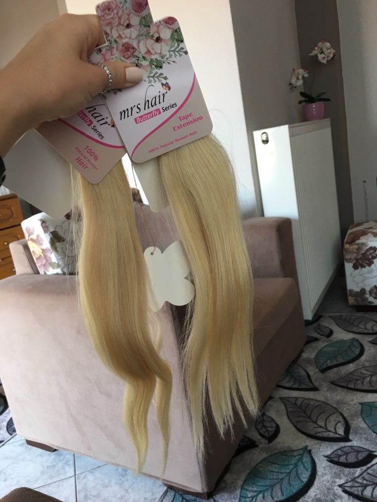 """MRSHAIR Tape In Human Hair Extensions 16"""" 18"""" 20"""" 22"""" 24"""" 20pcs Non Remy Straight Brazilian Hair On Invisible Tape PU Skin Weft"""