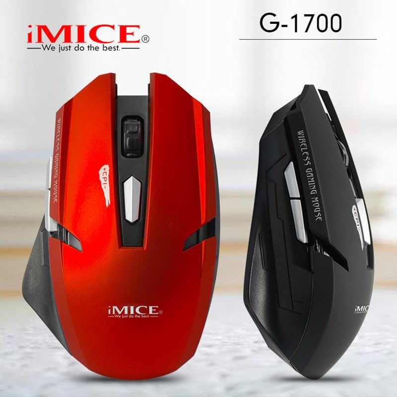 IMICE Chơi Game Không Dây 6 Nút Optical Chuột Chuyên Nghiệp 2000 dpi Máy Chơi Game Máy Tính Chuột cho Máy Tính Xách Tay PC G-1700