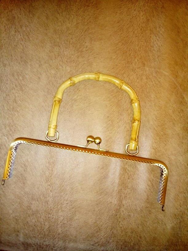 THINKTHENDO 1pc DIY Portemonnee Handtas Portemonnee Frame Handvat Munten Tassen Metalen Kus Sluiting Slot Frame 20cm / 25cm photo review