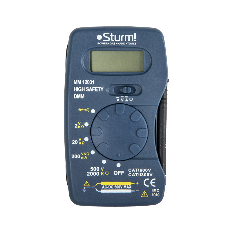 Digital Multimeter Sturm! MM12031 mastech ms8211 pen type digital multimeter non contact ac detector