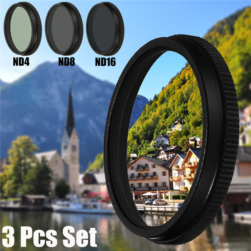 3 Pcs Lens Filter For DJI OSMO X3 Inspire 1 Camera ND4+ND8+ND16 0.5mm Thick HD Durable Quality