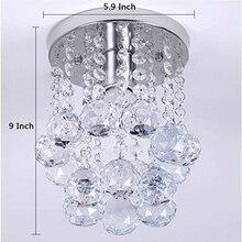 Modern LED Crystal Ball Chandelier Lighting Fixture Pendant Ceiling Lamp