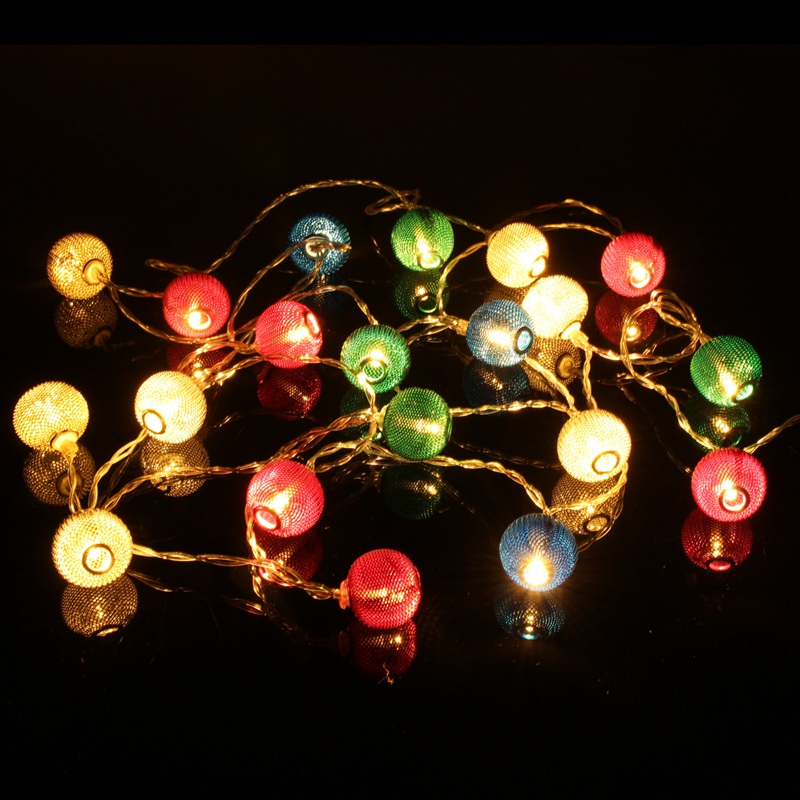10/20 LED String Light Lantern Shaped Battery Patio Christmas Wedding Party Decoration LED Fairy Holiday Light Non Waterproof