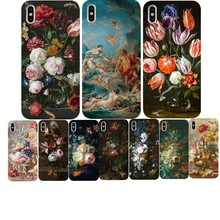 Classic painting flower Butterfly In a Vase aesthetic Art Soft TPU Phone Case for iPhone 8 7 6 6S Plus X XS MAX 5 11 11PRO