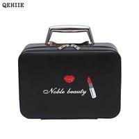Korean Version Of The Fashion Cosmetics Case Professional Beautician Cute Portable Makeup Box Travel Cosmetics Bags