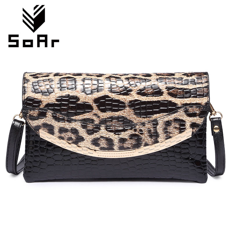 SoAr Women messenger bags high quality crossbody bags for women small flap shoulder bags Leopard Crocodile pattern ladies bag 5 soar shell bag crossbody bags women messenger bags designer handbags high quality small leather shoulder bag brand famous 5