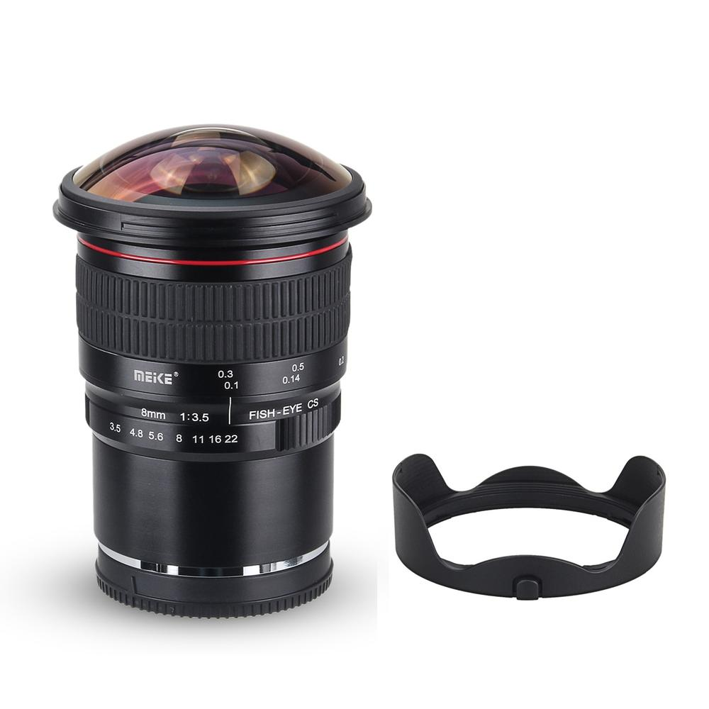 Meike 8mm f/3.5 Wide Angle Fisheye Lens for Fujifilm X-Mount X-Pro1 X-E1 X-M1 X-A1 X-E2 X-T1 X-A2 X-T10 Dslr Camera Lenses