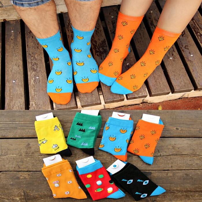 Cheap sale Brand new good quality winter Crew socks Colorful Fashion cartoon funny Cotton warm long men