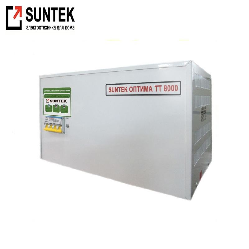Voltage stabilizer thyristor SUNTEK Optima TT 8000 VA AC Stabilizer Power stab Stabilizer with thyristor amplifier Constant volt цена и фото
