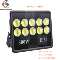 CHARLESLIGHTING 3 Years Warranty COB Square LED Flood Lights 150W/200W/300W/400W/500W Super Bright Project Lights 90 Degree