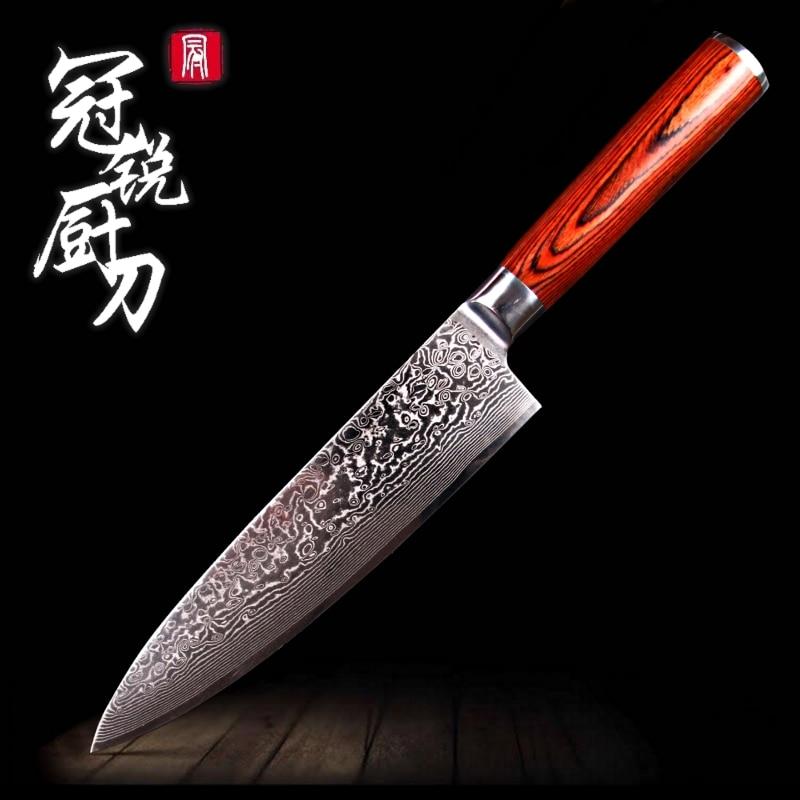damascus kitchen knife japanese damascus steel vg10 chef