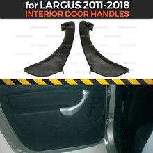 Межкомнатные дверные ручки для Lada Largus 2011- для задних дверей АБС-пластик интерьерное формовочное украшение автомобиля Стайлинг тюнинг