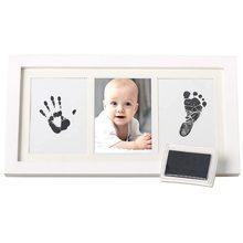 Marco de Fotos para relojes de bebé y Manos bonitos, accesorio con Tinta orgánica y Cristal acrílico, Seguro