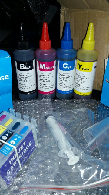 Dye Ink For EPSON Printers Premium 100ML 4 Color Ink BK C M Y for Epson Stylus TX106 TX109 TX117 TX119 C51 C91 CX4300 printer