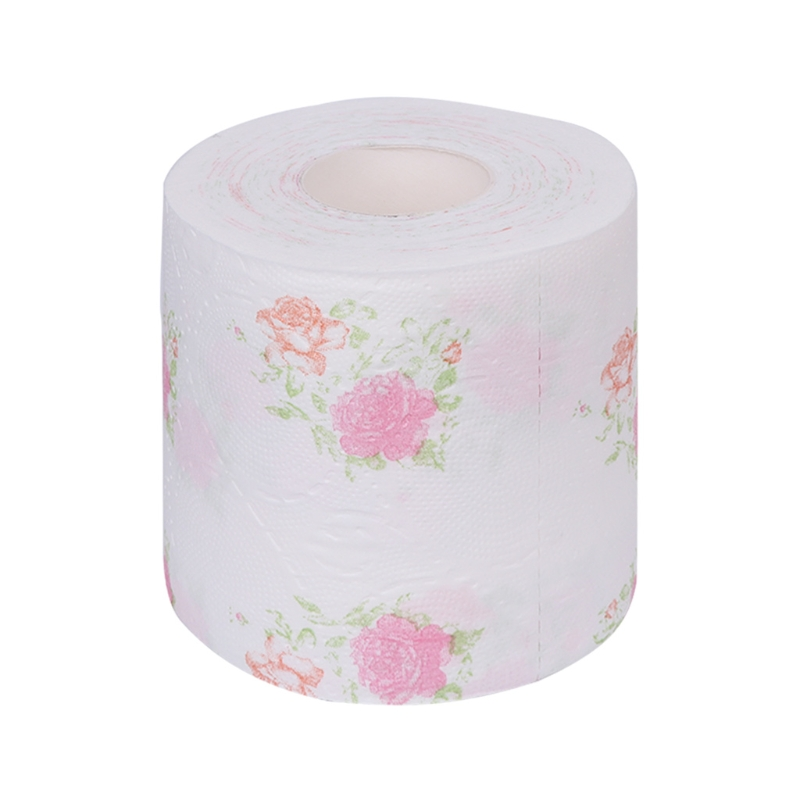 Flower Floral Toilet Paper Tissue Roll Bathroom Novelty Funny Toilet Tissue Gift Wood Pulp