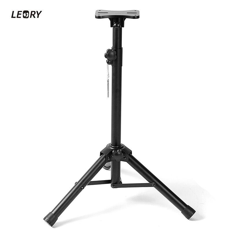 LEORY Adjustable Speaker Stand Mounting Bracket Loudspeaker Speaker Stand Tripod Surround Holder Speaker Accessory цены