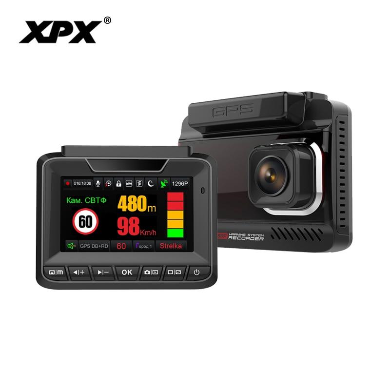 DVR XPX G545 STR Car DVR 3 in 1 Dash cam Rear View Camera Radar detector