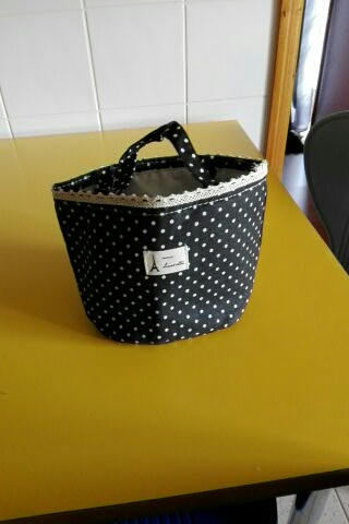 Cartoon Dot Lunch Bags Thermal Insulated Cooler Bags Women Kids Lunch Tote Fruit Foods Container Bags#121 photo review