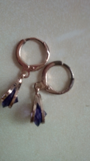 Trendy Water Drop Crystal Earrings photo review
