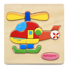 Toys Wood for Kids Educatonal-Toys Puzzle Gift Traffic Safety 3D Cartoon Children