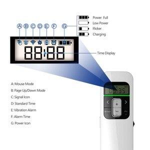 Image 3 - Kablosuz Sunum Şarj Edilebilir Sunum Uzaktan ile lcd ekran 2.4 GHz USB Noktası PPT Clicker Uzaktan Kumanda Fare