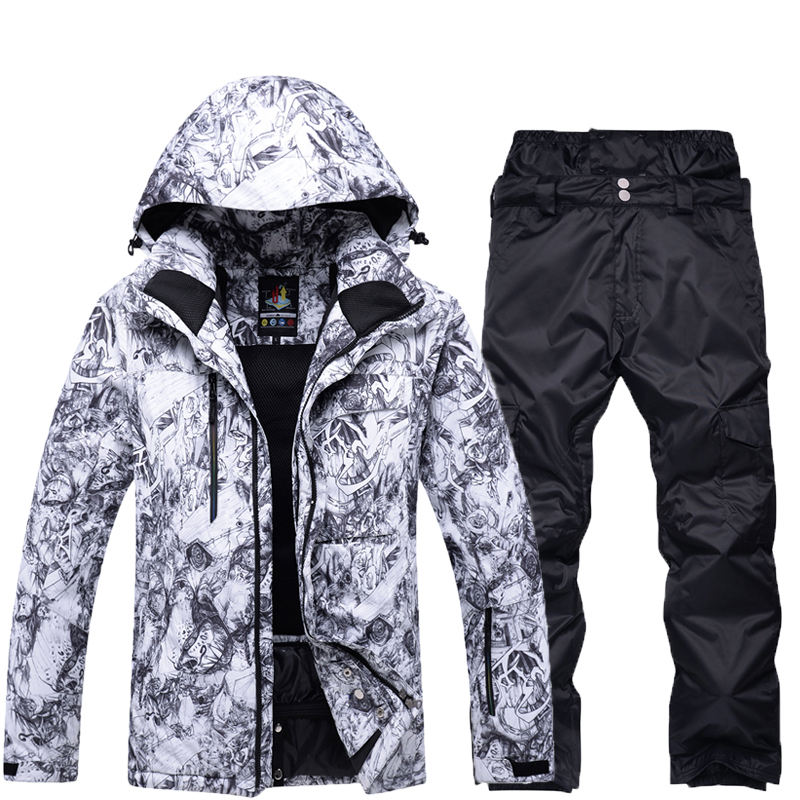 Men Snow clothing specialty snowboarding sets Waterproof windproof outdoor sportswear Skiing suit sets Snow jackets and pants 2018 new lover men and women windproof waterproof thermal male snow pants sets skiing and snowboarding ski suit men jackets