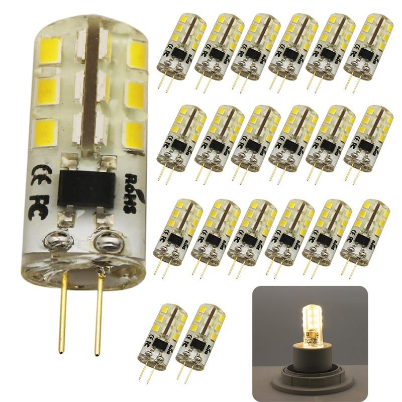 20x G4 LED Bulb AC 220V 3w Replace 30w halogen Light 360 Beam Angle G4 Christmas LED Lamps