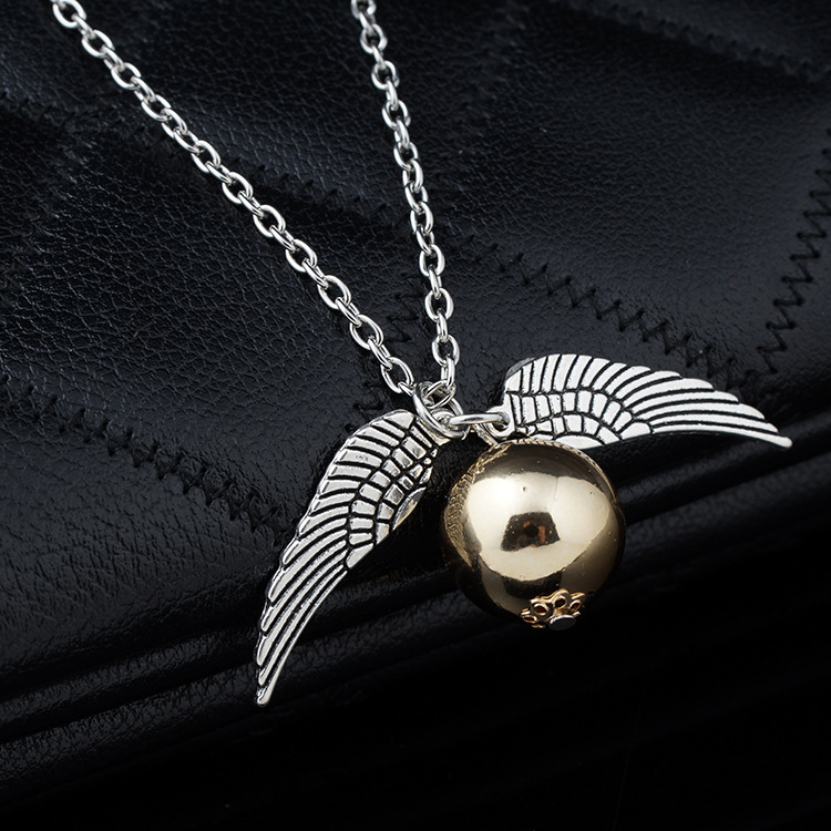 2017 Harri Potter Magic Necklace The Philosopher's natural Stone gold chain Action Figure Toys Sorcerer's Stone pendant necklace