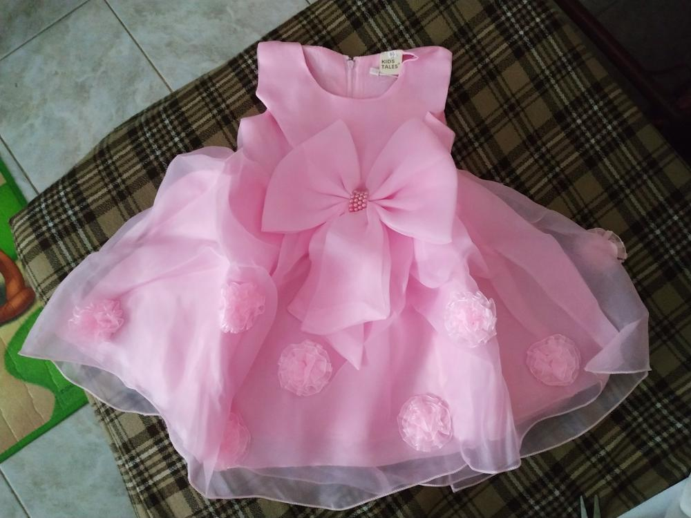 JQ-126  new hot sell baby girl dress lace flower around the kids well beautiful party girls noble pageant wear chic clothes 2019