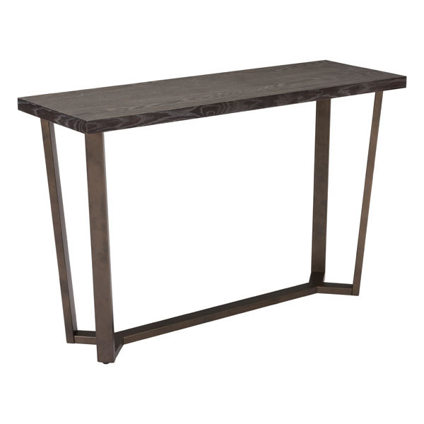 Brooklyn Console Table Gray Oak &A.Brass found in brooklyn
