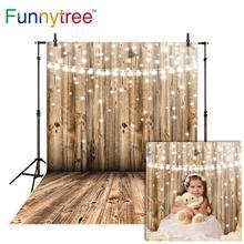 Funnytree wedding photography backdrop wood wall glitter bokeh shiny children background photo studio photobooth prop