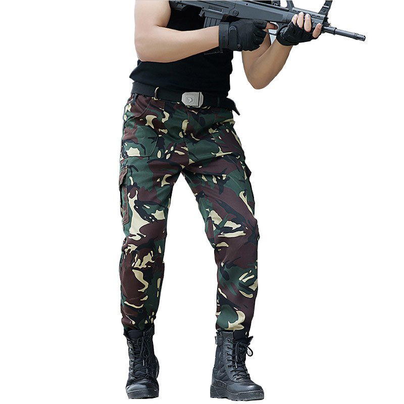Tactical Pant Army Cargo Pants Camouflage US SWAT Military Pant CS Outdoor Camo Hiking Trousers Men Overalls Pantalone Caccia