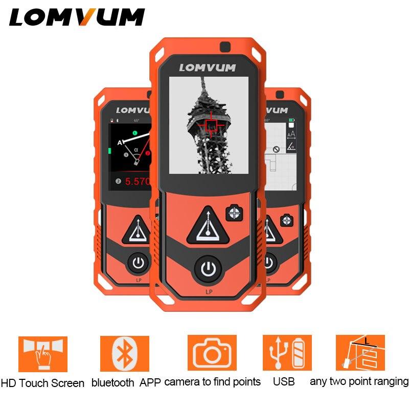 LOMVUM New Arrival Laser Rangefinders Digital Laser Distance 200m Meter Distance Battery powered Measurer Laser Camera