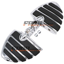 цена на Front Foot Pegs Footrest for Kawasaki Ninja 250R EX300 650 ZX-6R 7R 9R 10R 11 12R 14R ZZR1400 Concours 1400GTR Z1000 00+ (099)