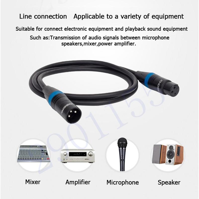 choseal qs3803 xlr microphone cable wire xlr cannon male to female rh aliexpress com