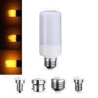 新加入ledランプ電球e27/e26/e14/e12/b22装飾ランプ3モードちらつき炎効果発射ledトウモロコシ電球220ボルト110ボル