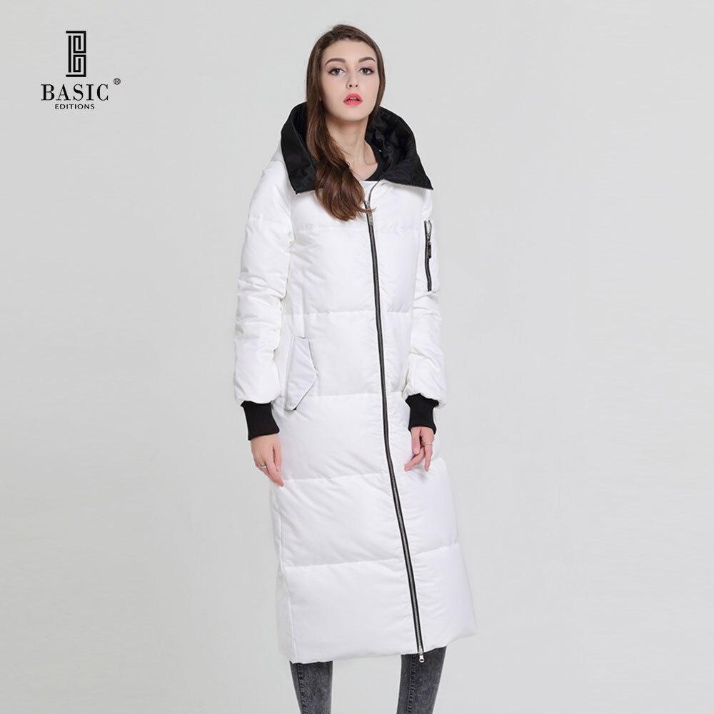 De base Vogue Femmes D'hiver Extra Long Manteau Casual Puff Zipper Capot Vers Le Bas Parka Veste-Y16065